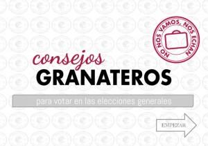 CONSEJOS GRANATEROS - ELECCIONES GENERALES 2015