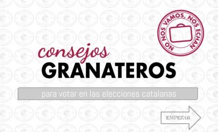 CONSEJOS GRANATEROS - CATALANAS 2015