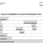 Reembolsos formulario de reclamación